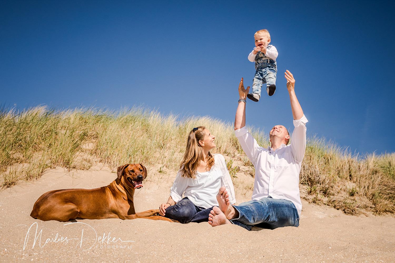 familie fotoshoot strand Rockanje