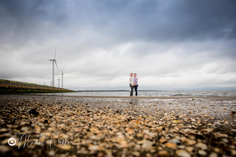 landschapsportret op het strand fotoshoot